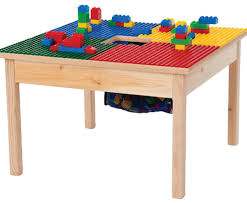 Kids Activity Table With Storage Lego Compatible Play Table With Storage Bag Kids Tables And