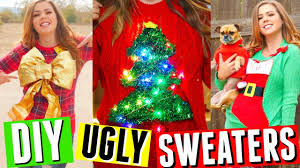 Ugly Christmas Sweater With Lights Diy Ugly Christmas Sweaters Sweater With Lights Stocking