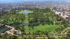 hyde park aerial hd footage