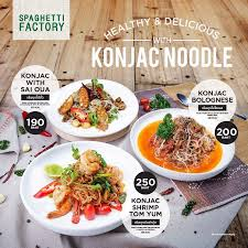 konjac cuisine healthy delicious with konjac noodle spaghetti factory