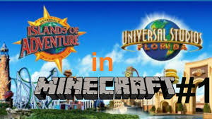 Universal Park Orlando Map by Universal Studios Minecraft Server Part 1 Youtube