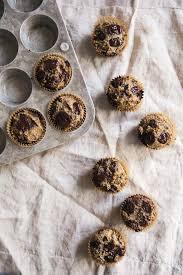 flax almond meal banana muffins with dark chocolate gluten free