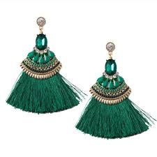 emerald green earrings 68 jewelry emerald green stunning tassel earrings from