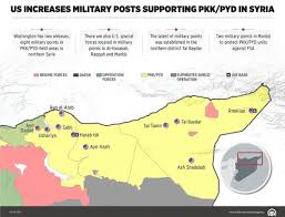 Map Of Syria And Surrounding Countries by Turkish Wire Anadolu Published Map Showing Us Bases In Syria The
