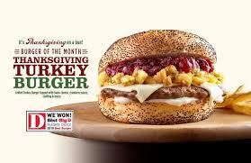 thanksgiving turkey burger debuts nov 1