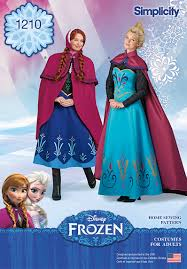 frozen costumes 1210 simplicity pattern disney frozen costumes for misses