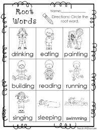 root words printable worksheets in pdf file kdg 2nd grade ela