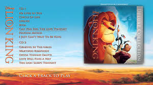 lion king soundtrack deluxe edition album sampler