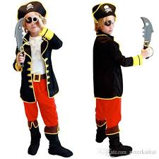 kids boys pirate costume cosplay costumes set for boy halloween