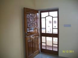 teak wood panel door with mesh door gharexpert