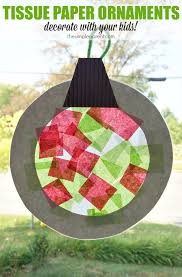 help the make tissue paper ornaments that as suncatchers
