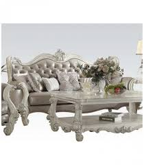 PC Living Room Set By Versailles Vintage Gray PU Collection - Vintage living room set