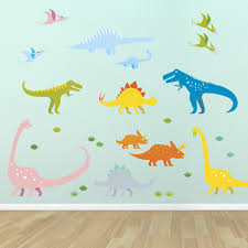 wall stickers supertogether colourful dinosaurs childrens wall stickers supertogether 1