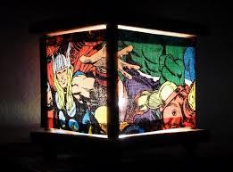 Comic Book Room Decor Superhero Lamp Marvel Comics Night Light Nightlight Lantern