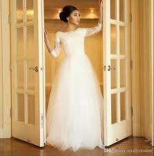 simple wedding dresses for brides discount simple wedding dresses modest 2017 3 4 sleeves corset