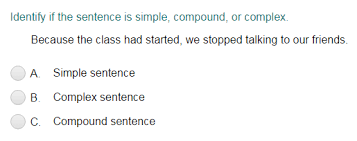 identifying sentences as simple compound or complex quiz turtle