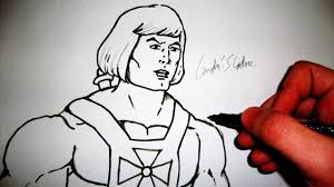 como desenhar o he man clássico how to draw he man slay