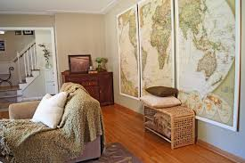 World Map Artwork by Wind And Willow Home Make It Yourself Monday Map Art