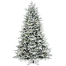 trees clearance shop ft lit fir flocked artificial trees