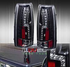 2004 silverado led tail lights 1988 1998 gmc chevy c k c1500 2500 3500 black housing led tail light