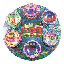what s on a seder plate painted seder plate by yair emanuel
