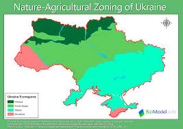 Ua Map Ukraine Nature Agricultural Zoning Biomodel Info Biodiversity