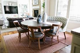 Curved Banquette Kitchen Traditional With Dining Settee Bench Dining Room Traditional With Beige Banquette