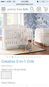 Pottery Barn Convertible Crib by Best This Convertible White Pottery Barn Crib This Convertible