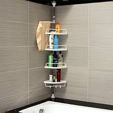 Telescopic Bathroom Shelves Ah R International 120 300cm 4 Tier Adjustable