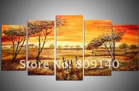 decor painting oil painting decoration landscape african tribe art high quality