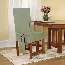 What Kind Of Fabric For Dining Room Chairs Cotton Duck Short Dining Room Chair Slipcover Sure Fit Target