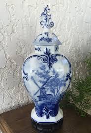 Ginger Jar Vase Large Delft Ginger Jar Vase 12 5 Rosenthal By Guamantiquesnstuff