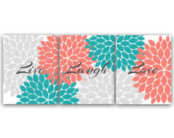 coral teal wall simply simple coral wall decor home decor ideas