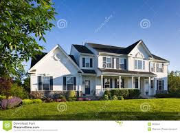 Single Family Home by Modern Suburban Single Family Home Stock Images Image 5625954