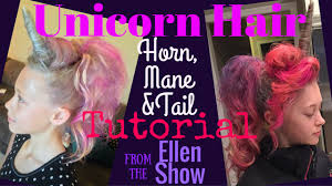 50 theme costumes hairdos unicorn hair tutorial horn mane tail crazy hair day my