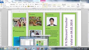 how to create brochure using microsoft word within few minutes
