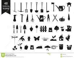 gardening tools silhouette vector stock vector image 39352313
