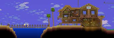 mini beach vacation home terraria