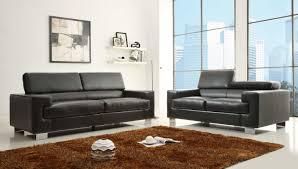 Black Leather Sofa Sets Homelegance Vernon Sofa Set Black Bonded Leather U9603blk 3