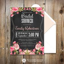 Shabby Chic Wedding Shower by Bridal Shower Invites Printable Chalkboard Bridal Shower Invites
