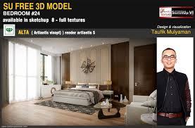 sketchup texture free sketchup model elegant modern bedroom 24