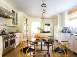 Long Kitchen Tables by Long Kitchen With Round Dining Table And Wishbone Chairs