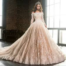 luxury wedding dresses 2017 new luxury wedding dress princess lace sleeve bridal