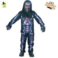 skeleton costumes boys 3d robot skeleton costumes with printed bones kids terror