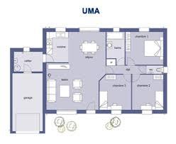 plan de maison gratuit 3 chambres maison plain pied 3 chambres en u plans de newsindo co