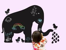 elephant wall stickers colorful kids rooms