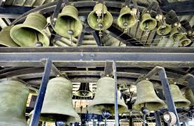 carillon an array of large bells usually in a tower operated