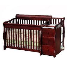 Convertible Crib Changer Sorelle Tuscany 4 In 1 Convertible Crib Changer Combo Cherry With