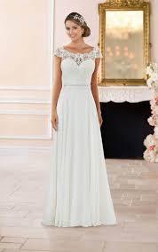 wedding dress lace the shoulder lace back wedding dress stella york