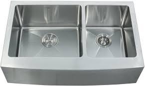 33 inch farmhouse kitchen sink kraus khf20333kpf1602ksd30ch 33 inch farmhouse double bowl stainless